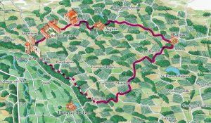 Circuit des Châteaux - Territoire de l'appellation Saint Mont