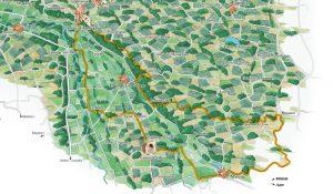 Circuit des Bastides - Territoire de l'appellation Saint Mont