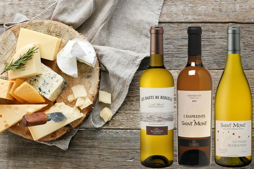Plateau de fromage avec du vin blanc